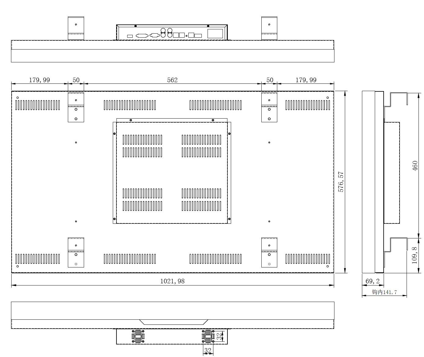 46寸液晶拼接屏PZ-46DID-55-5×4--广州磐众智能科技有限公司