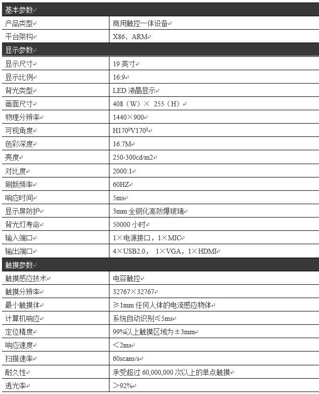 19寸壁挂触摸一体机PZ-19BHH--广州磐众智能科技有限公司