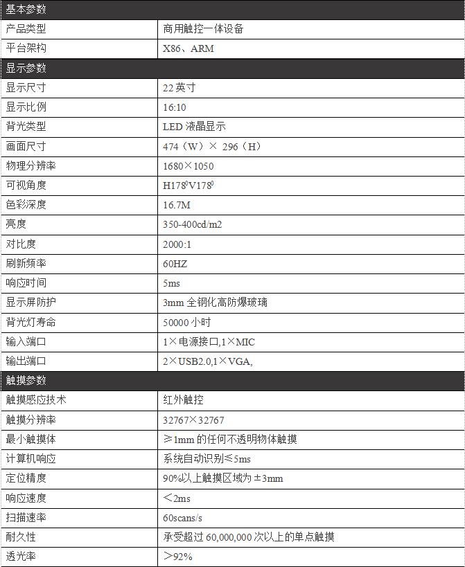 22寸桌面式触摸一体机/茶几式一体机/PZ-22ZDTC--广州磐众智能科技有限公司