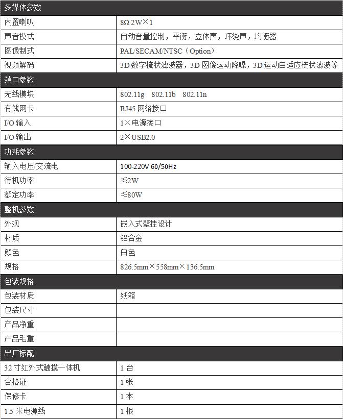 32寸壁挂查询一体机/PZ-32BDTC-A--广州磐众智能科技有限公司