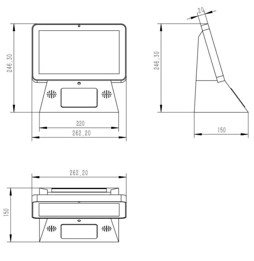 13.3自助验证设备/PZ-133BWI-B--广州磐众智能科技有限公司